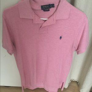 Men's pink polo shirt